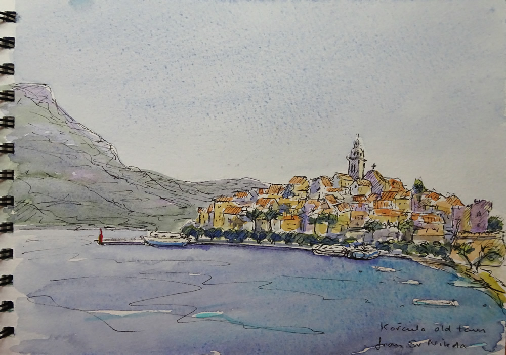 Korčula from the west