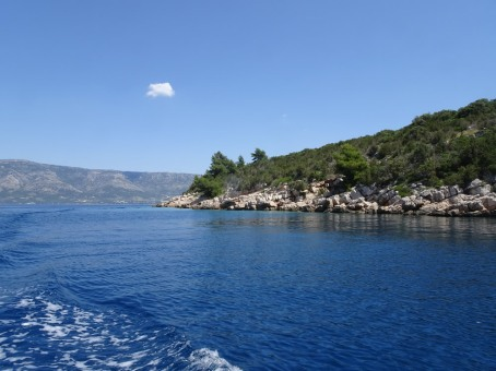 Looking over to Brač