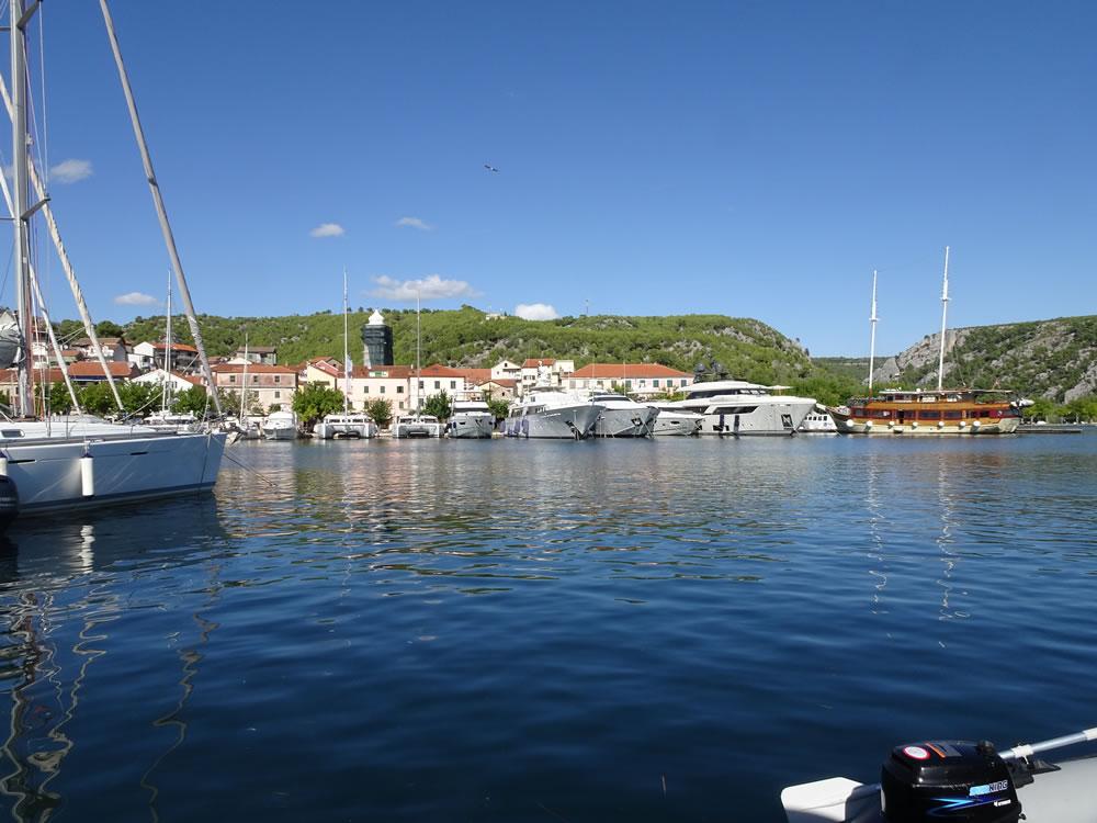 Skradin town dock